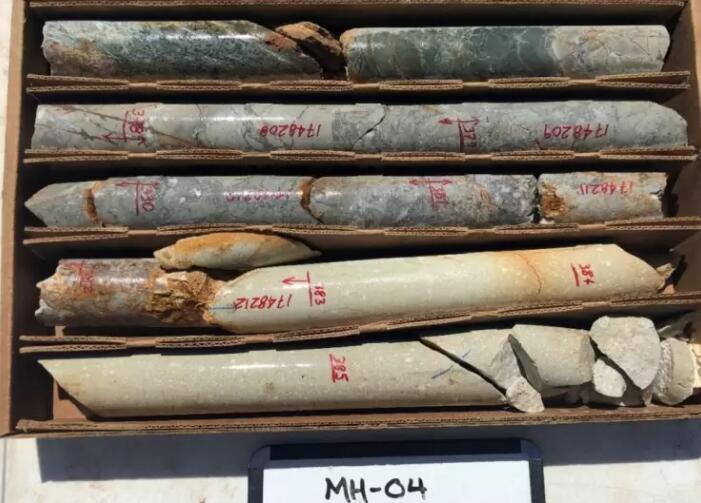 """美国亚利桑那州金曼莫哈维项目的钻孔MH-04产生了明显的硫化物角砾岩和高品位金和银结果"""""""