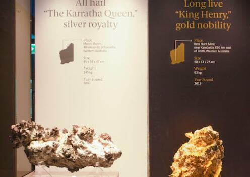 珀斯展出稀有金银块